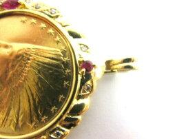 JEWELRY(ジュエリー)/コイントップ/コイン/ゴールド/K18YG(750)イエローゴールド×K21.6YGイエローゴールド×ダイヤモンド(D0.22ct)/【ランクA】[BRANDOFF/ブランドオフ]【】