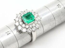 JEWELRY(ジュエリー)/エメラルドダイヤモンドリング指輪/リング/PT850プラチナxエメラルド(1.429ct)xダイヤモンド(1.95ct)/【ランクA】/13号[BRANDOFF/ブランドオフ]【】