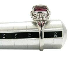 JEWELRY(ジュエリー)/ロードライトガーネットリング指輪/リング/PT900プラチナロードライトガーネットダイヤモンド(0.09ct)/【ランクA】/19号[BRANDOFF/ブランドオフ]【】
