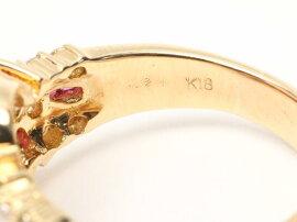JEWELRY(ジュエリー)/ルビーダイヤモンドリング指輪/リング/K18YG(750)イエローゴールドxルビー(1.21ct)xダイヤモンド(0.42ct)/【ランクA】/19.5号[BRANDOFF/ブランドオフ]【】