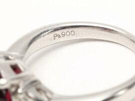 JEWELRY(ジュエリー)/ロードライトガーネットダイヤモンドリング指輪/リング/PT900プラチナxロードライトガーネット(4.85ct)xダイヤモンド(0.32ct)/【ランクA】/12号[BRANDOFF/ブランドオフ]【】