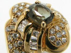 JEWELRY(ジュエリー)/アレキサンドライトリング指輪/リング/K18YG(750)イエローゴールドアレキサンドライト(1.05ct)ダイヤモンド(0.94ct)/【ランクA】/12号[BRANDOFF/ブランドオフ]【】