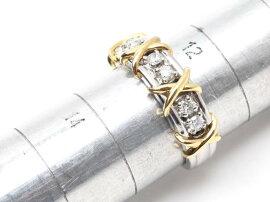 JEWELRY(ジュエリー)/ダイヤモンドリング指輪/リング/PT900プラチナxK18YG750イエローゴールドxダイヤモンド(0.30ct)/【ランクA】/13号[BRANDOFF/ブランドオフ]【】
