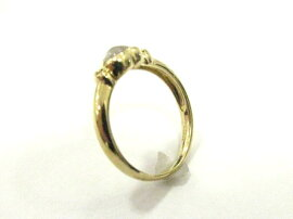 STARJEWELRY(スタージュエリー)/ムーンストーンダイヤモンドリング指輪/リング/K18YG(750)イエローゴールドムーンストーンダイヤモンド0.03ct/【ランクA】[BRANDOFF/ブランドオフ]【】