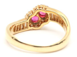 JEWELRY(ジュエリー)/ルビーダイヤモンドリング指輪/リング/K18YG(750)イエローゴールドxルビー(0.41ct)xダイヤモンド(0.50ct)/【ランクA】/11.5号[BRANDOFF/ブランドオフ]【】