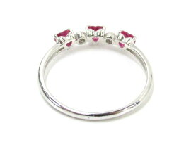 JEWELRY(ジュエリー)/ルビーダイヤモンドリング指輪/リング/PT900プラチナ×ルビー(0.44ct)×ダイヤモンド(0.03ct)/【ランクA】/12号[BRANDOFF/ブランドオフ]【】