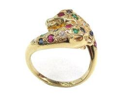 JEWELRY(ジュエリー)/ダイヤモンドリング指輪/リング/K18YG(750)イエローゴールド×ダイヤモンド(1.10ct)×カラーストーン/【ランクA】/12号[BRANDOFF/ブランドオフ]【】