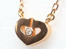 Cartier(カルティエ)/Cハート1Pダイヤモンドネックレス/ネックレス/K18PG(750)ピンクゴールドxダイヤモンド(1P)/【ランクA】(B3040400)[BRANDOFF/ブランドオフ]【】