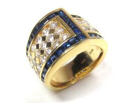 JEWELRY(ジュエリー)/サファイアダイヤモンドリング指輪/リング/K18YG(750)イエローゴールドxサファイア(2.73ct)xダイヤモンド(1.93ct)/【ランクB】/7号[BRANDOFF/ブランドオフ]【】
