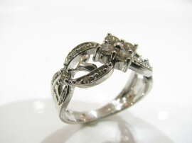 JEWELRY(ジュエリー)/ダイヤモンドリング指輪/リング/K18WG(750)ホワイトゴールド×ダイヤモンド(0.38ct)/【ランクS】/10号[BRANDOFF/ブランドオフ]【】