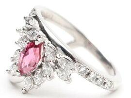 JEWELRY(ジュエリー)/トルマリンダイヤモンドリング指輪/リング/PT900プラチナxトルマリン(0.62)xダイヤモンド(0.63ct)/【ランクA】[BRANDOFF/ブランドオフ]【】