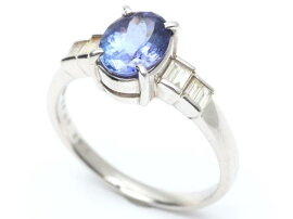 JEWELRY(ジュエリー)/タンザナイトダイヤモンドリング指輪/リング/PT900プラチナxタンザナイト(1.82ct)xダイヤモンド(0.23ct)/【ランクA】/17号[BRANDOFF/ブランドオフ]【】