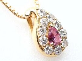 CELINE(セリーヌ)/ルビーダイヤモンドネックレス/ネックレス/K18YG(750)イエローゴールドxルビー(0.22ct)xダイヤモンド(0.33ct)/【ランクA】[BRANDOFF/ブランドオフ]【】