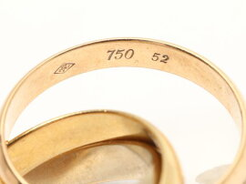 Cartier(カルティエ)/トリニティリング指輪/リング/K18YG(750)イエローゴールドxK18WGホワイトゴールドxK18PGピンクゴールド/【ランクA】/#52/9.5号[BRANDOFF/ブランドオフ]【】