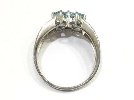 JEWELRY(ジュエリー)/ブルートパーズリング指輪/リング/K18WG(750)ホワイトゴールド×ブルートパーズ0.8ct×ダイヤモンド0.5ct/【ランクS】/16.5号[BRANDOFF/ブランドオフ]【】