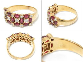 JEWELRY(ジュエリー)/ルビーリング指輪/リング/K18YG(750)イエローゴールドxルビー(1.54ct)xダイヤモンド(0.40ct)/【ランクA】/14号[BRANDOFF/ブランドオフ]【】