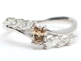 JEWELRY(ジュエリー)/ダイヤモンドリング指輪/リング/K18WG(750)ホワイトゴールドxダイヤモンド(0.26ct/0.35ct)/【ランクA】/12号[BRANDOFF/ブランドオフ]【】