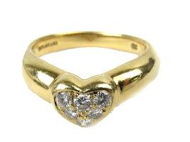 TIFFANY&CO(ティファニー)/ハートダイヤモンドリング指輪/リング/K18YG(750)イエローゴールドxダイヤモンド/【ランクA】/13号[BRANDOFF/ブランドオフ]【】
