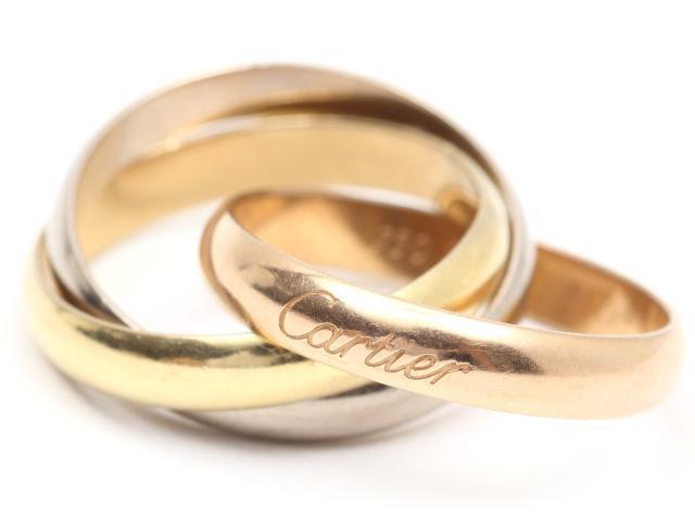 Cartier(カルティエ)/トリニティリング 指輪/リング/K18YG(750) イエローゴールドx K18WG ホワイトゴールド x K18PG ピンクゴールド/【ランクA】/#53/12.5号[BRANDOFF/ブランドオフ]【中古】:Brandoff銀座