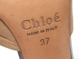 Chloe(クロエ)/サンダル/くつ/パープル系xベージュ/エナメル/【ランクA】[BRANDOFF/ブランドオフ]【】