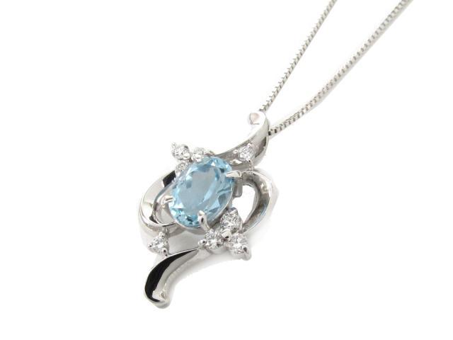アクアマリン ダイヤモンド ネックレス
