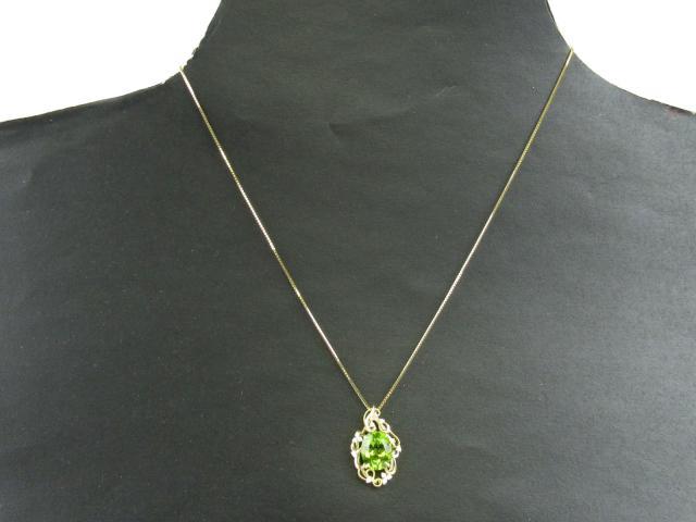 ぺリドット ダイヤモンド ネックレス