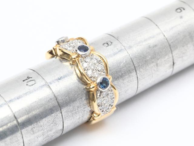 ダイヤモンド サファイア リング 指輪