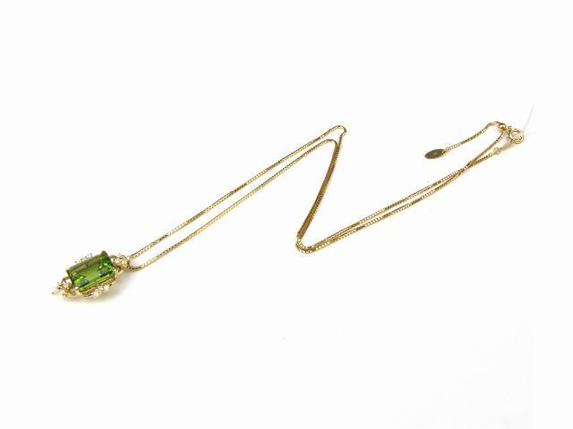 ペリドット ダイヤモンド ネックレス