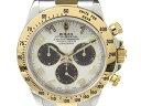 【中古】ロレックス デイトナ ウォッチ 腕時計 メンズ メンズ ステンレススチール(SS) x K18YG(750)イエローゴールド (116523)