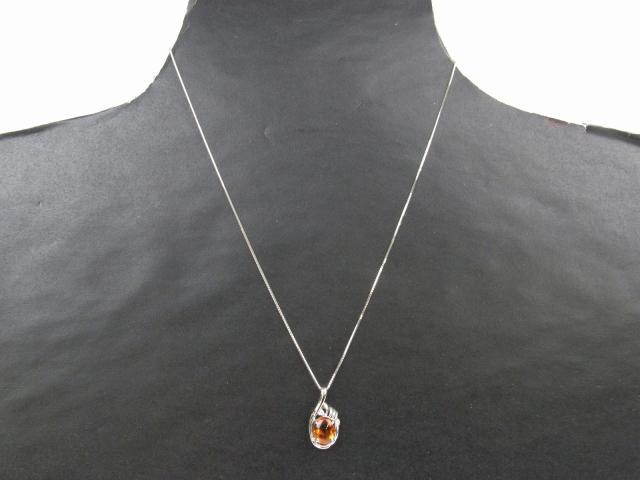 シトリン ダイヤモンド ネックレス