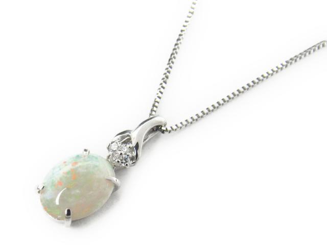 オパール ダイヤモンド ネックレス