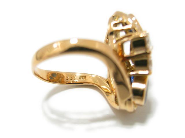 サファイヤ ダイヤモンド リング 指輪