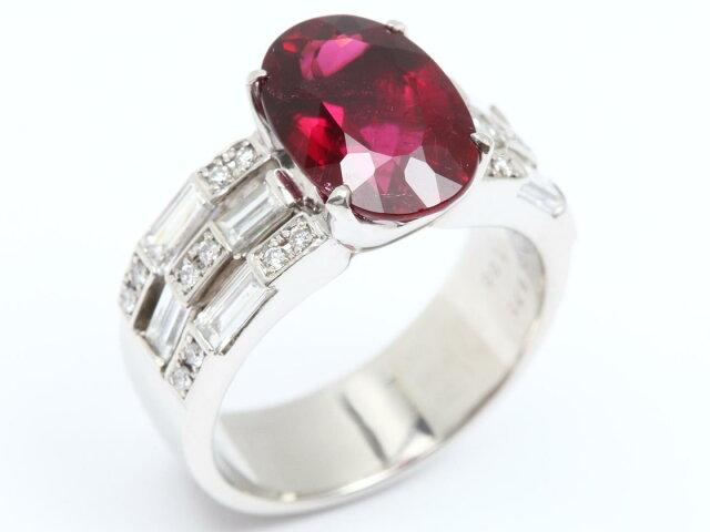 ルベライト ダイヤモンド リング 指輪
