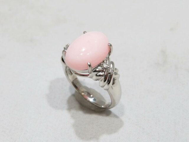 ピンクオパールリング 指輪