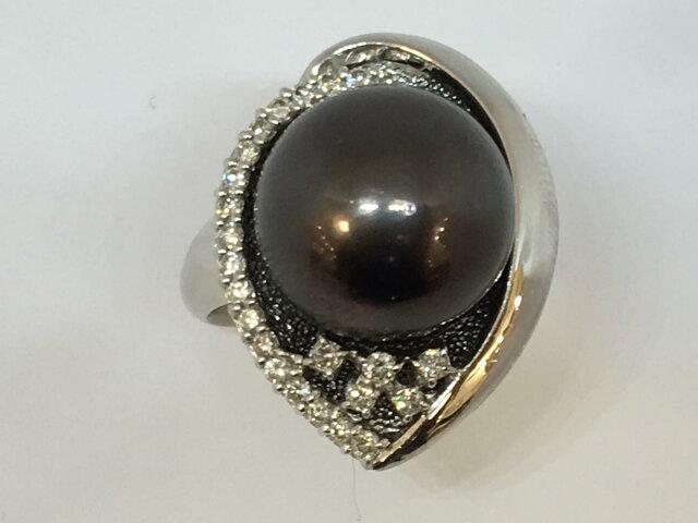 ジュエリー パール ダイヤモンド リング 指輪