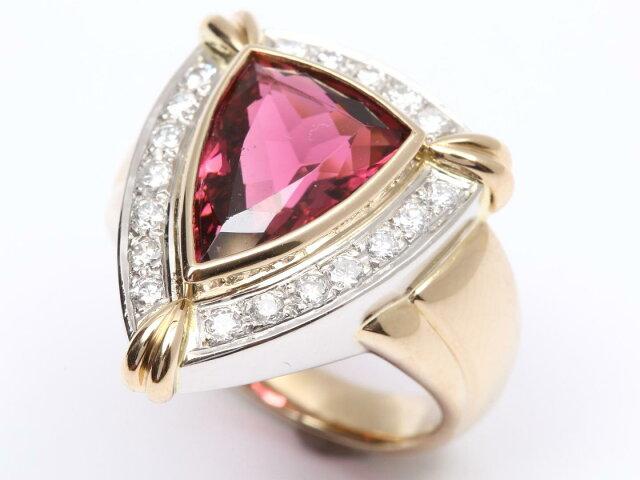 トルマリン ダイヤモンド リング 指輪