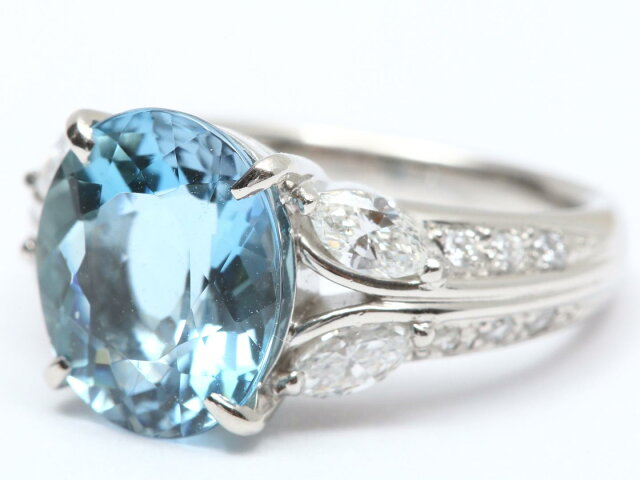 アクアマリン ダイヤモンド リング 指輪