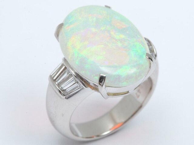 オパール ダイヤモンド リング 指輪