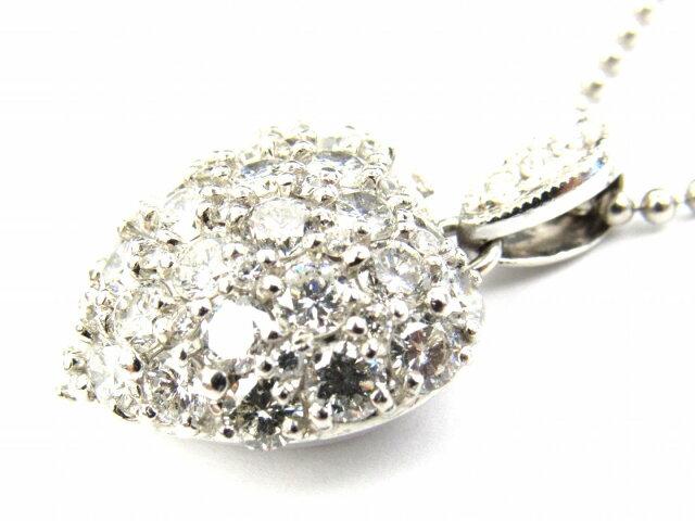 ハート ダイヤモンド ネックレス