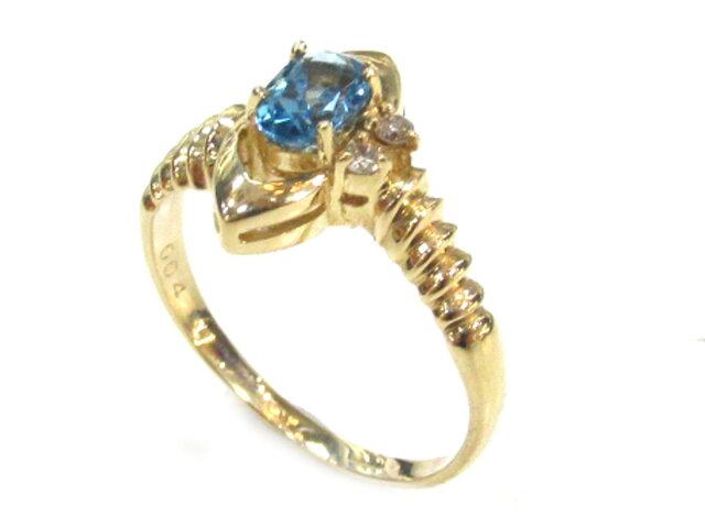 ブルートパーズリング ダイヤモンド 指輪