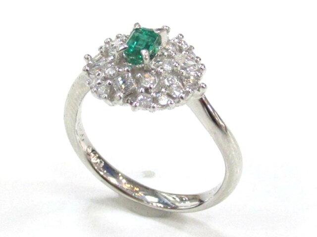 エメラルドリング ダイヤモンド 指輪