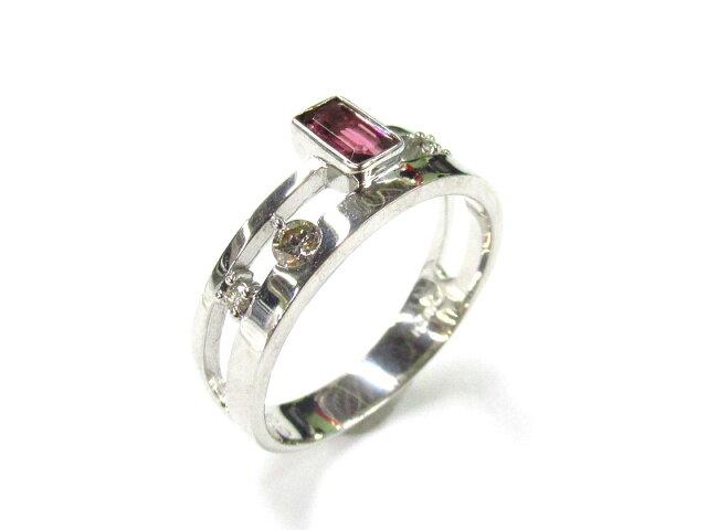 ピンクトルマリンリング ダイヤモンド 指輪