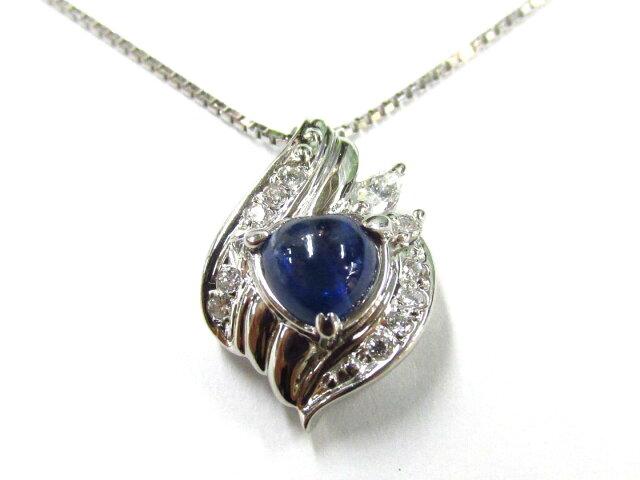 サファイアネックレス ダイヤモンド