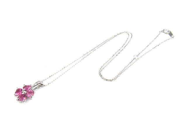 ピンクトルマリン ダイヤモンド ネックレス