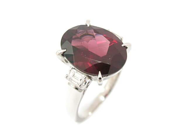 ガーネット ダイヤモンド リング 指輪