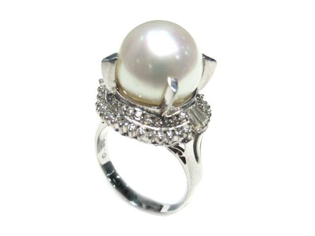 パールダイヤモンドリング 指輪