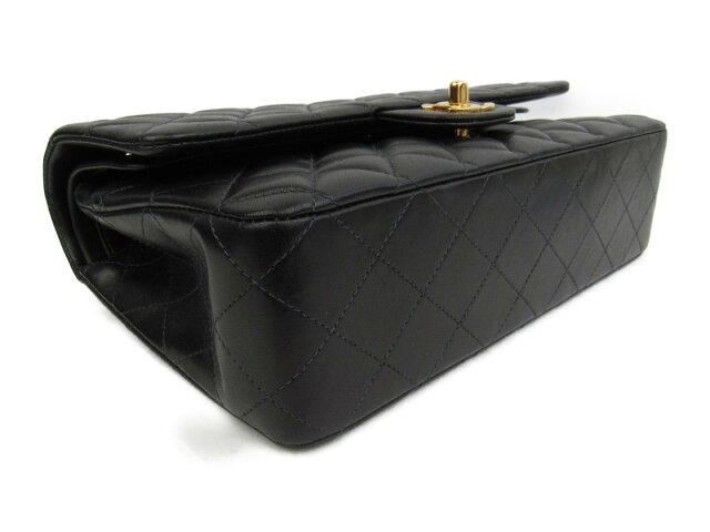 ラムスキン マトラッセWフラップチェーンショルダーバッグ