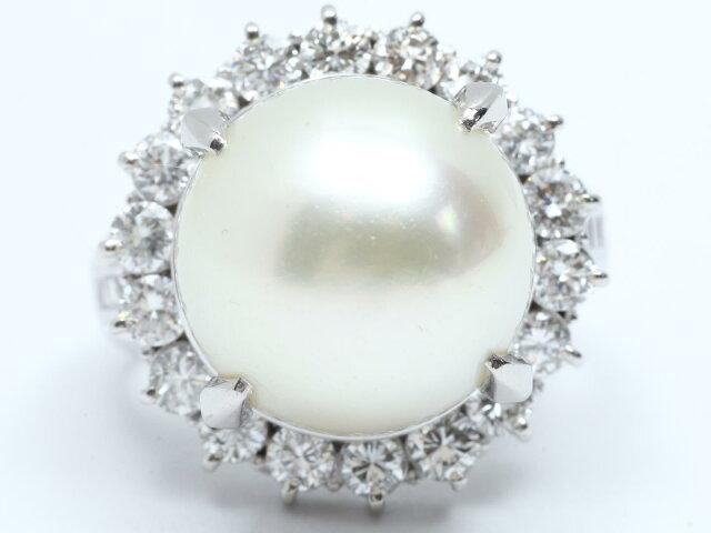 ダイヤモンド パール リング 指輪