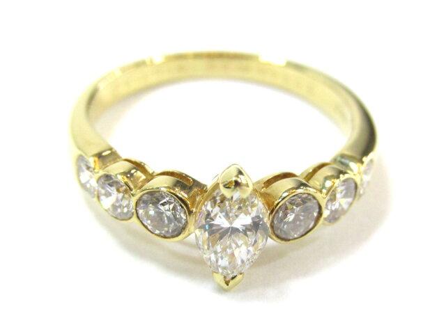 マーキス ダイヤモンドリング 指輪