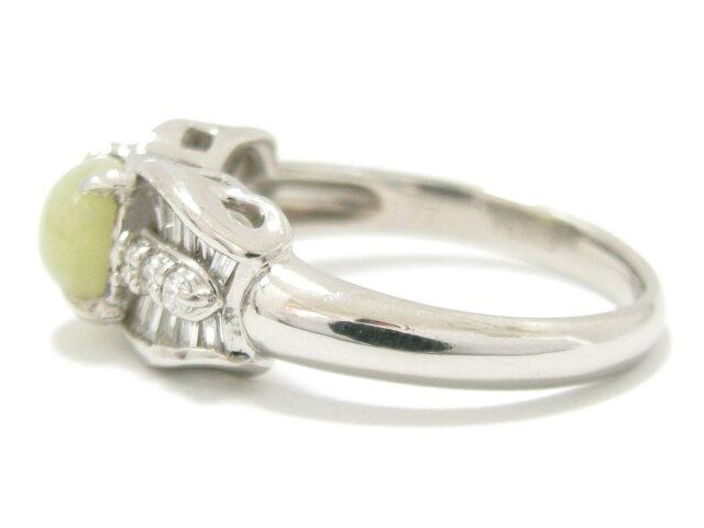 クリソベルキャッツアイ ダイヤモンド リング 指輪